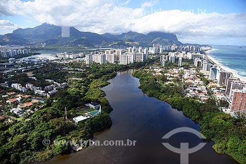 Foto aérea do Canal de Marapendi  - Rio de Janeiro - Rio de Janeiro (RJ) - Brasil