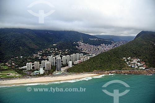 Foto aérea da Praia de São Conrado  - Rio de Janeiro - Rio de Janeiro (RJ) - Brasil