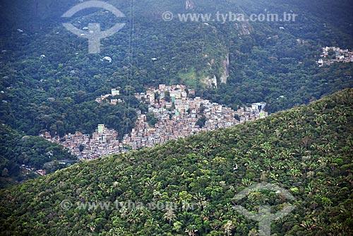 Foto aérea de parte da Favela da Rocinha  - Rio de Janeiro - Rio de Janeiro (RJ) - Brasil