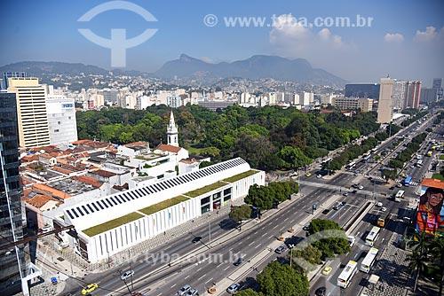 Vista de cima da Biblioteca Parque Estadual com o Campo de Santana (1880)  - Rio de Janeiro - Rio de Janeiro (RJ) - Brasil