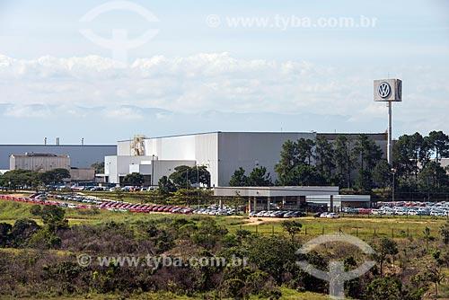 Vista do pátio da montadora da fábrica da Volkswagen  - Taubaté - São Paulo (SP) - Brasil