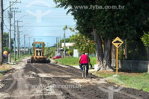 Pavimentação de rua na cidade de Tremembé  - Tremembé - São Paulo (SP) - Brasil