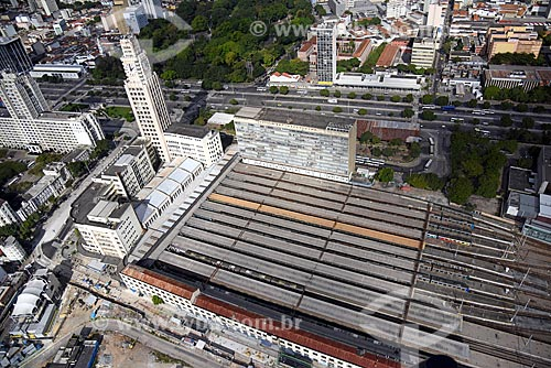 Foto aérea da Estação Ferroviária Central do Brasil  - Rio de Janeiro - Rio de Janeiro (RJ) - Brasil