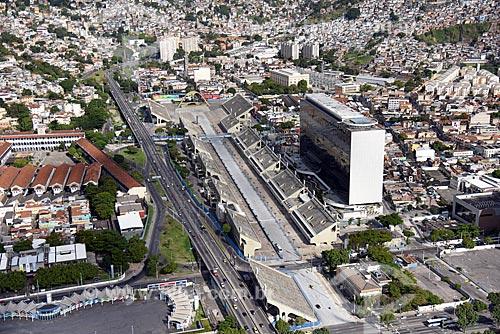 Foto aérea do Sambódromo da Marquês de Sapucaí (1984)  - Rio de Janeiro - Rio de Janeiro (RJ) - Brasil