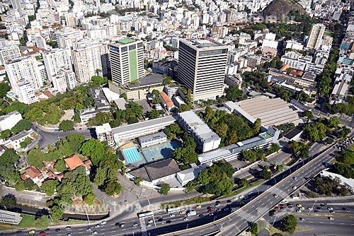 Foto aérea do Centro Federal de Educação Tecnológica Celso Suckow da Fonseca (CEFET/RJ)  - Rio de Janeiro - Rio de Janeiro (RJ) - Brasil