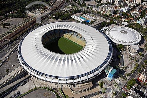Foto aérea do Estádio Jornalista Mário Filho (1950) - mais conhecido como Maracanã  - Rio de Janeiro - Rio de Janeiro (RJ) - Brasil