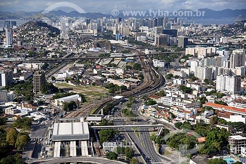 Foto aérea da Estação ferroviária de São Cristóvão  - Rio de Janeiro - Rio de Janeiro (RJ) - Brasil