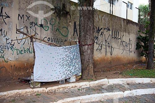 Detalhe de abrigo para morador de rua  - Jacareí - São Paulo (SP) - Brasil