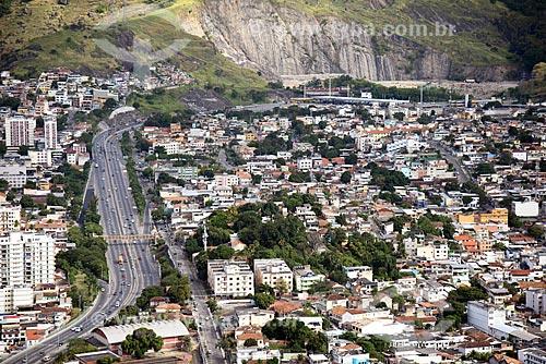 Foto aérea da Linha Amarela próximo pedágio  - Rio de Janeiro - Rio de Janeiro (RJ) - Brasil