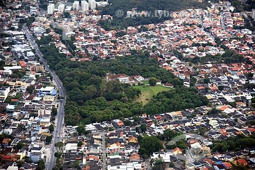 Foto aérea da antiga casa da família do Barão de Taquara (1757), hoje Área de Proteção Ambiental da Fazenda da Baronesa  - Rio de Janeiro - Rio de Janeiro (RJ) - Brasil