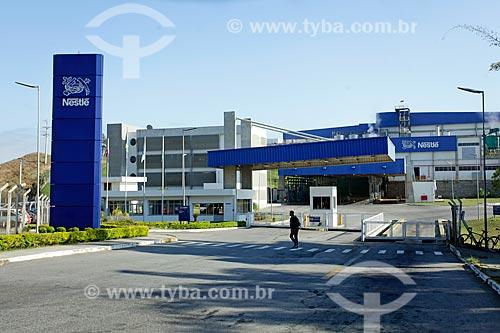 Fachada da fábrica da Nestlé próximo à Rodovia BR-040  - Três Rios - Rio de Janeiro (RJ) - Brasil