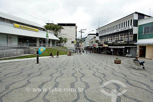 Rua de pedestre no centro da cidade de Lima Duarte  - Lima Duarte - Minas Gerais (MG) - Brasil