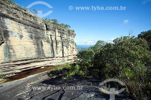 Vista do Paredão de Santo Antônio no Parque Estadual do Ibitipoca  - Lima Duarte - Minas Gerais (MG) - Brasil