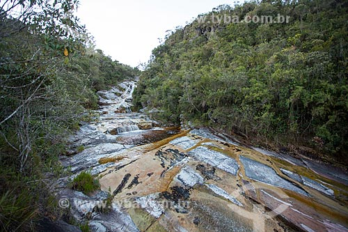 Vista de leito de rio no Parque Estadual do Ibitipoca durante a trilha do circuito de água  - Lima Duarte - Minas Gerais (MG) - Brasil