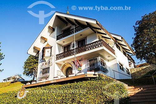 Fachada do Consulado da Áustria no Brasil  - Treze Tílias - Santa Catarina (SC) - Brasil