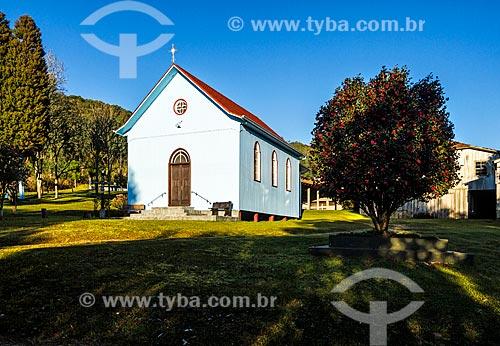 Fachada da Igreja de Nossa Senhora da Saúde  - Treze Tílias - Santa Catarina (SC) - Brasil