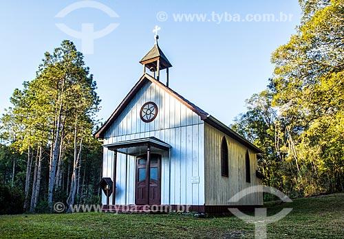 Fachada da Capela de Babenberg (1934)  - Treze Tilias - Santa Catarina - Brazil
