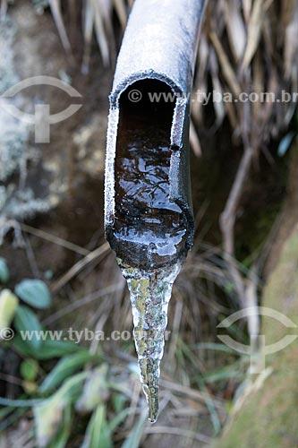 Detalhe de fonte congelada no Parque Nacional de Itatiaia  - Itatiaia - Rio de Janeiro (RJ) - Brasil