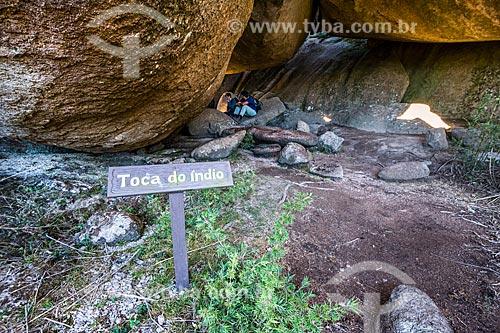 Entrada da Toca do Índio no Parque Nacional de Itatiaia  - Itatiaia - Rio de Janeiro (RJ) - Brasil