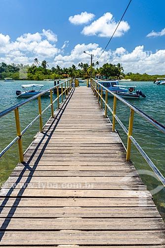 Cais na Ilha de Boipeba  - Cairu - Bahia (BA) - Brasil