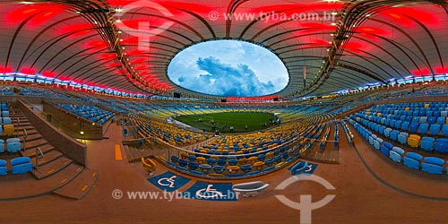 Interior do Estádio Jornalista Mário Filho (1950) - mais conhecido como Maracanã - foto em 360°  - Rio de Janeiro - Rio de Janeiro (RJ) - Brasil