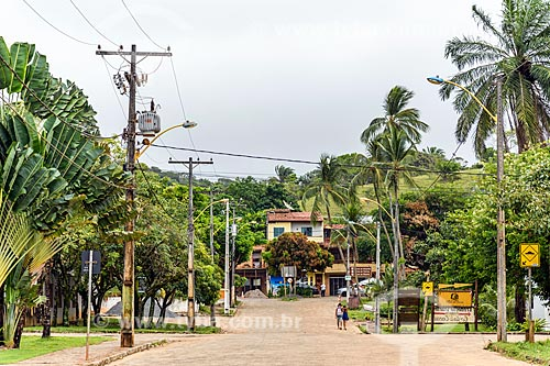 Vista de rua na cidade de Itacaré  - Itacaré - Bahia (BA) - Brasil