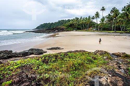 Vista da orla da Praia da Costa  - Itacaré - Bahia (BA) - Brasil