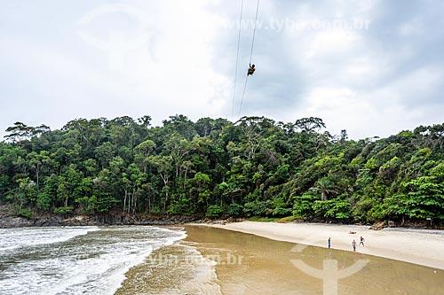 Tirolesa na Praia da Ribeira  - Itacaré - Bahia (BA) - Brasil