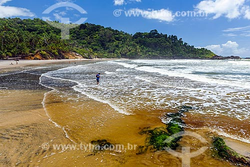 Foz do Rio Burundanga na Praia da Engenhoca  - Itacaré - Bahia (BA) - Brasil