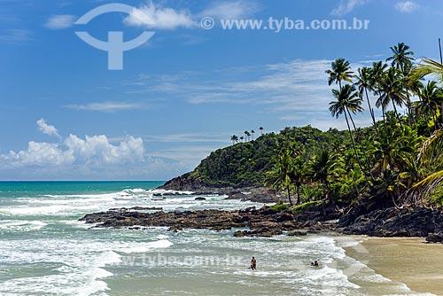 Vista da orla da Praia do Havaizinho  - Itacaré - Bahia (BA) - Brasil