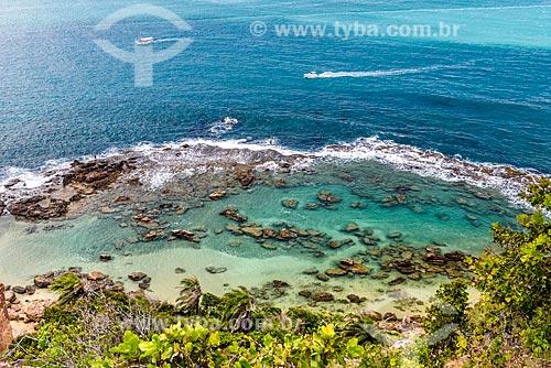 Vista da orla da Ilha de Tinharé a partir do Morro de São Paulo  - Cairu - Bahia (BA) - Brasil