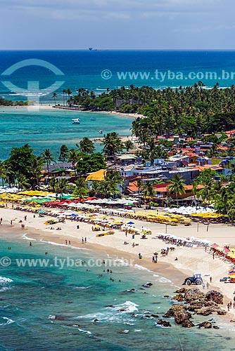 Vista da orla da 3ª Praia com a 2ª Praia ao fundo  - Cairu - Bahia (BA) - Brasil