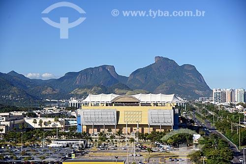 Vista do Barra Shopping com o Maciço da Tijuca e da Pedra da Gávea a partir da Cidade das Artes  - Rio de Janeiro - Rio de Janeiro (RJ) - Brasil