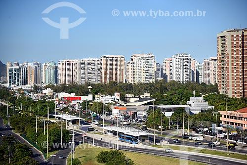 Estação do BRT Transoeste - Barra Shopping - na Avenida das Américas  - Rio de Janeiro - Rio de Janeiro (RJ) - Brasil