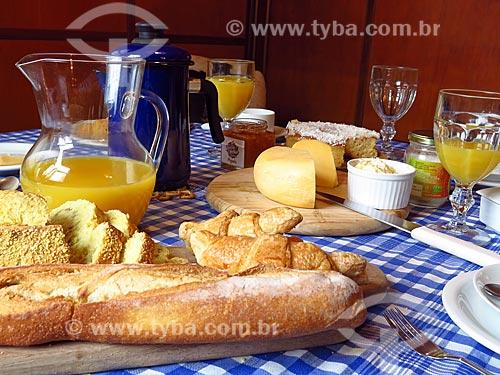 Detalhe do café da manhã  - Gramado - Rio Grande do Sul (RS) - Brasil