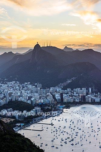 Vista do Cristo Redentor a partir do Pão de Açúcar  - Rio de Janeiro - Rio de Janeiro (RJ) - Brasil