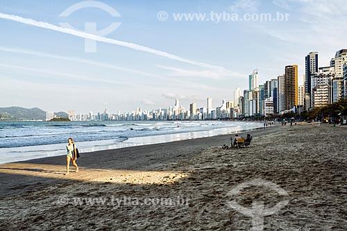 Vista da orla da Praia Central  - Balneário Camboriú - Santa Catarina (SC) - Brasil