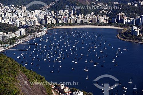 Vista da Enseada de Botafogo a partir do Pão de Açúcar  - Rio de Janeiro - Rio de Janeiro (RJ) - Brasil