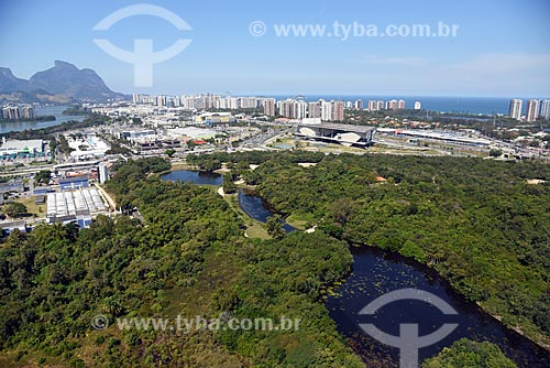 Foto aérea do Parque Natural Municipal Bosque da Barra  - Rio de Janeiro - Rio de Janeiro (RJ) - Brasil