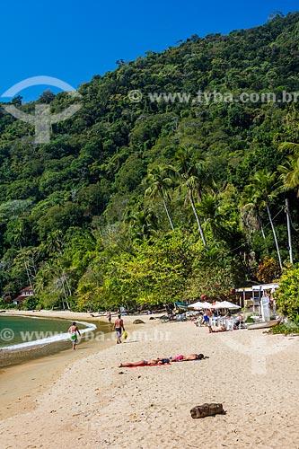 Vista da orla da Praia do Abraãozinho  - Angra dos Reis - Rio de Janeiro (RJ) - Brasil