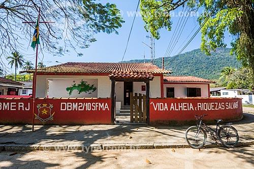 Fachada do quartel do Corpo de Bombeiros do Distrito Ilha Grande  - Angra dos Reis - Rio de Janeiro (RJ) - Brasil