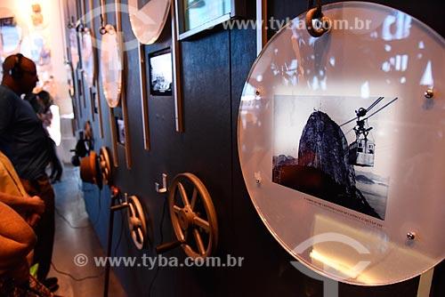 Exposição sobre a história da construção do bondinho do Pão de Açúcar na estação do bondinho do Morro da Urca  - Rio de Janeiro - Rio de Janeiro (RJ) - Brasil