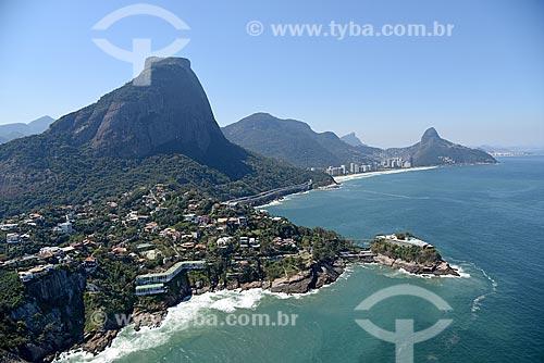 Foto aérea da Joatinga com a Pedra da Gávea e o Costa Brava Clube  - Rio de Janeiro - Rio de Janeiro (RJ) - Brasil