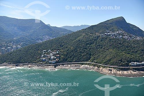 Foto aérea da Avenida Niemeyer  - Rio de Janeiro - Rio de Janeiro (RJ) - Brasil