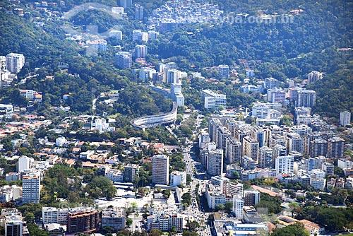 Foto aérea do Condomínio do Conjunto Residencial Marques de São Vicente - mais conhecido como Minhocão da Gávea  - Rio de Janeiro - Rio de Janeiro (RJ) - Brasil