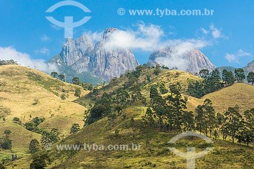 Vista dos Três Picos de Salinas no Parque Estadual dos Três Picos  - Teresópolis - Rio de Janeiro (RJ) - Brasil