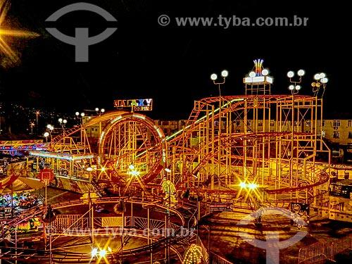 Vista da montanha-Russa do Parque de diversões Play City  - Rio de Janeiro - Rio de Janeiro (RJ) - Brasil