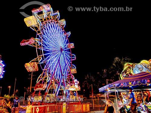 Vista da roda-gigante do Parque de diversões Play City  - Rio de Janeiro - Rio de Janeiro (RJ) - Brasil