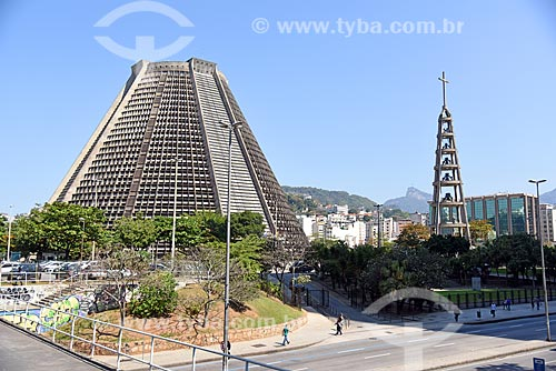 Vista da Catedral de São Sebastião do Rio de Janeiro (1979)  - Rio de Janeiro - Rio de Janeiro (RJ) - Brasil