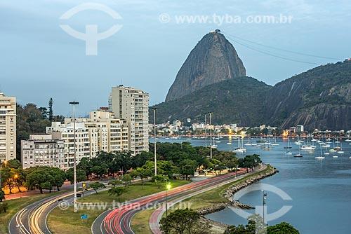 Vista da Enseada de Botafogo com o Pão de Açúcar ao fundo  - Rio de Janeiro - Rio de Janeiro (RJ) - Brasil